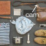 探偵の荷物です。ピンホールカメラはココです。