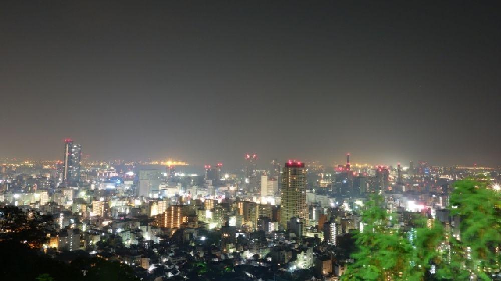 兵庫県神戸市西区から見た夜景