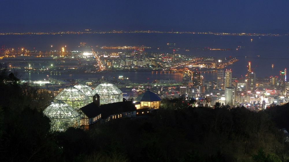 兵庫県神戸市北区から見た神戸の海