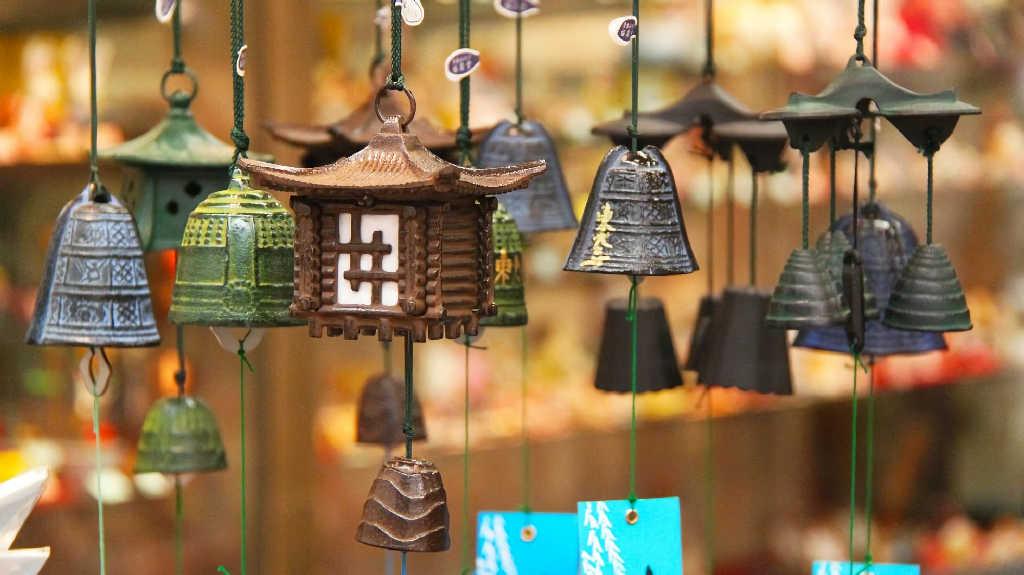 奈良に調査しに行った時に展示されていた風鈴