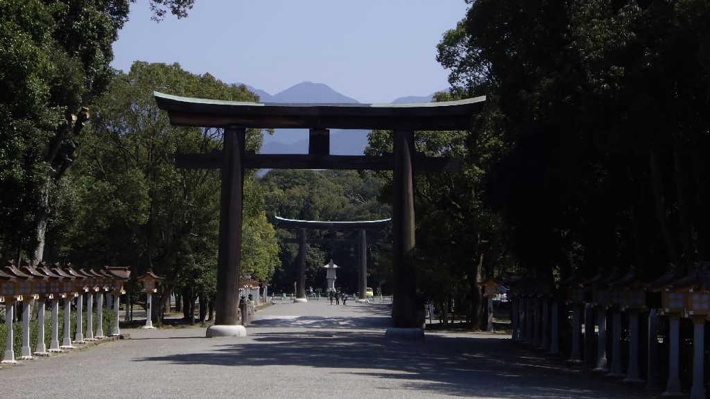 奈良県橿原市の橿原神宮の鳥居