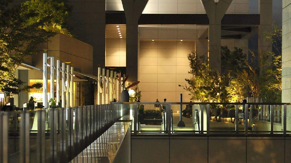 夜の大阪市内のあるビルから素行調査