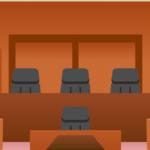 裁判所の法廷内の様子