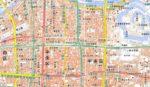 大阪市中央区付近の地図