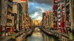 大阪市中央区道頓堀川付近の昼間の様子。
