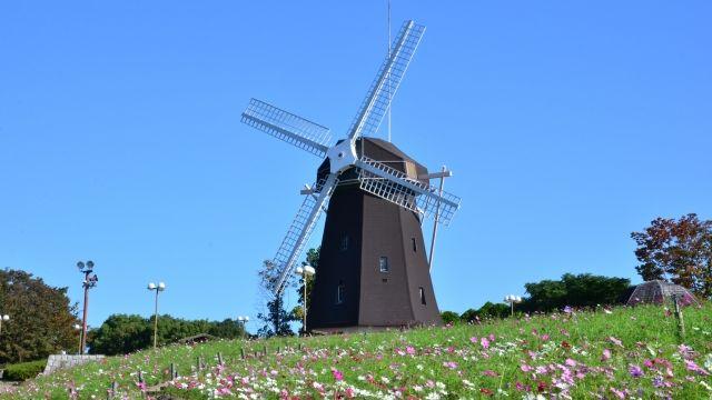 大阪市鶴見区にある鶴見緑地の風車です。