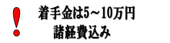 成功報酬の着手金は5~10万円で諸経費込みです。