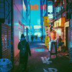 彼氏の行方を見つける為に冬の大阪の街を深夜まで探し続ける彼女